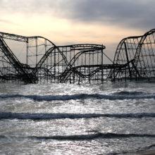post storm Sandy image roller coaster
