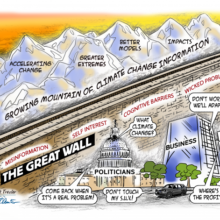 cartoon great wall of climate misinformation color