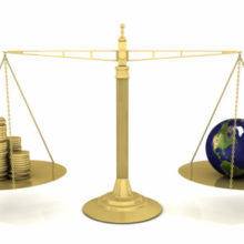 scales with world and money