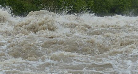 deluge of water in river