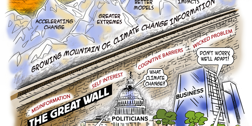 the growing mountain of climate change information in cartoon form