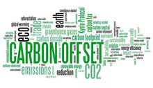 wordle with lots of carbon offset related terms