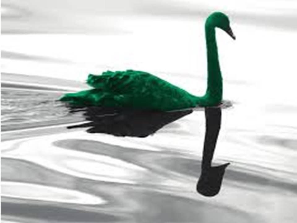 a green swan