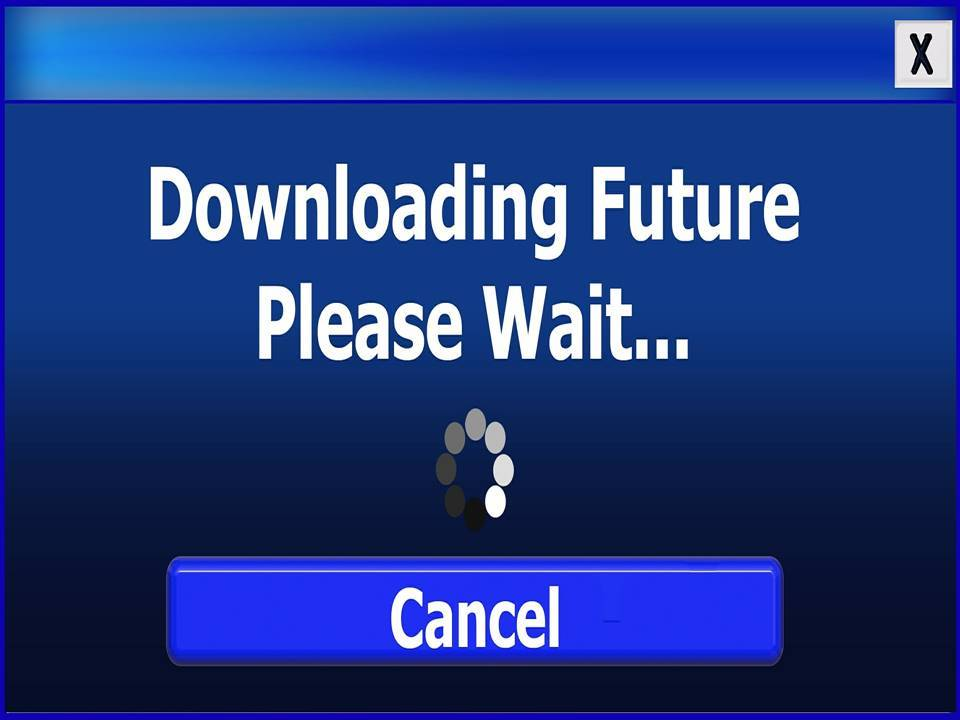 words downloading future please wait