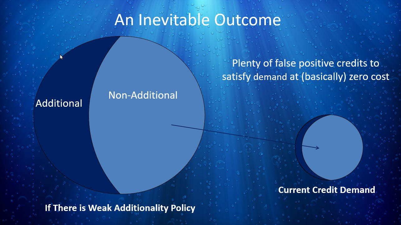 graphic showing false positives in additionality