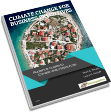 book cover climate change for executives