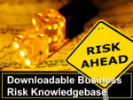 download business risk knowledge base image of dice and sign saying risk ahead